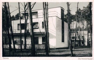 The Original Bauhaus Dessau Masters' Houses 1926. Walter Gropius. Modernist. Modern German Architecture.