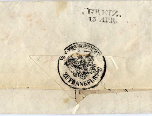 German Court letter 1850. Pre-Philately Autograph.