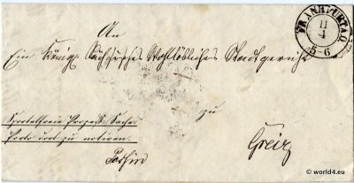 German Court letter, 1850, Pre-Philately, Autograph