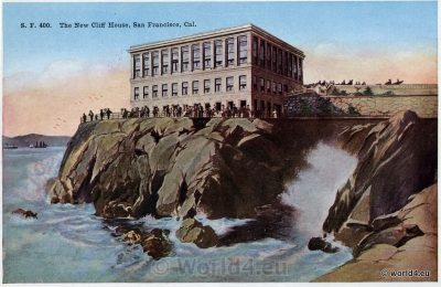The New Cliff House. San Francisco California. Rare Collectible Postcard.