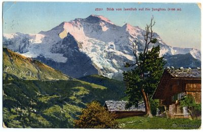 Old postcard Isenfluh Switzerland. Mountains, Alps Panorama
