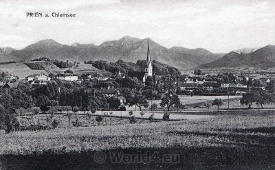 AK Prien am Chiemsee Germany. Old postcard 1920. Collectible