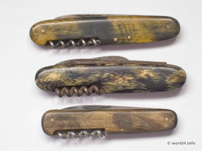 Vintage folding pocket knives 1950s. Mid-century design. Germany Solingen