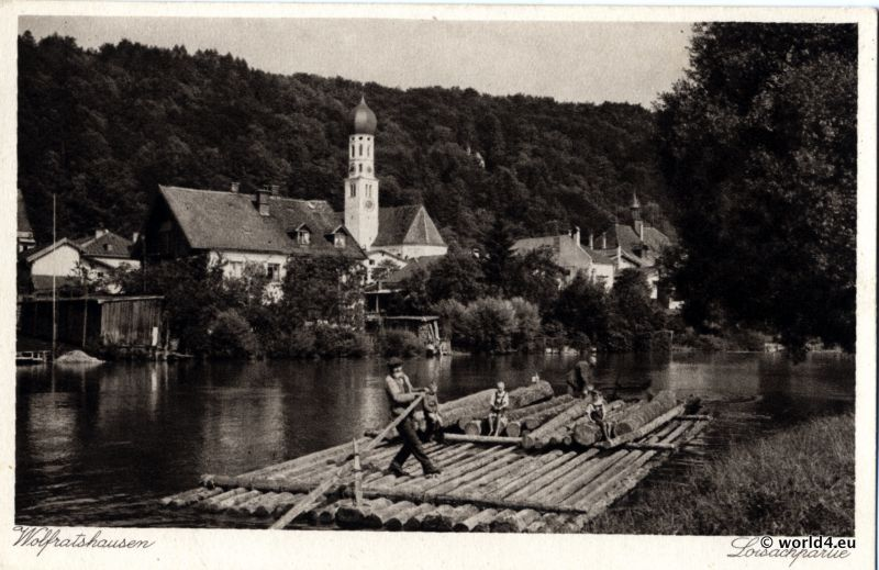 postcard, Wolfratshausen, rafters