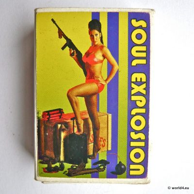 Soul Explosion. Girl with Gun. Matches, Collectible. German Graphic design.