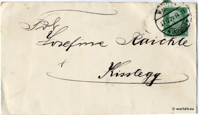 Cover German Empire. Philatelie, collectible stamps. Handwriting