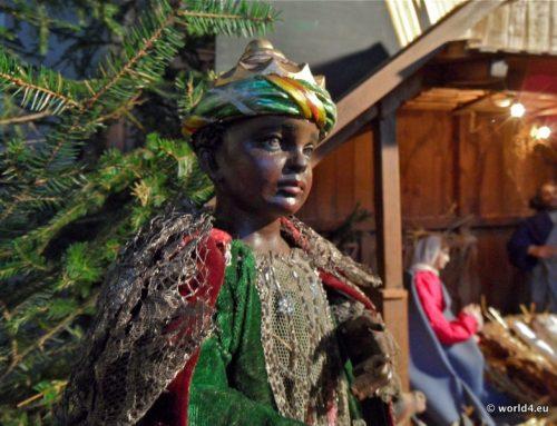 Christmas crib nativity scene. Diorama Bavaria 2011.