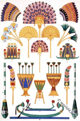 Ancient Egyptian ornaments from from Abu-Simbel. Pharaoh Mummy-case decoration. Sarcophagus decoration.