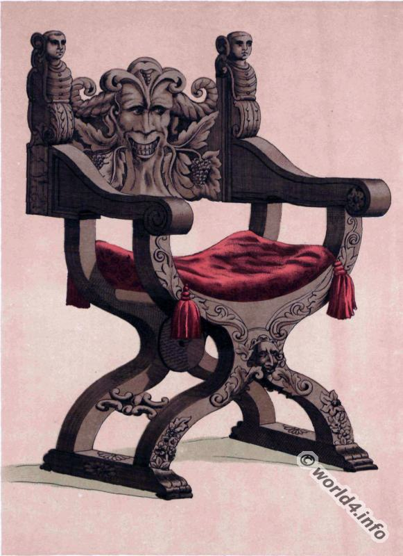 Renaissance, Sculptured, oak, chair