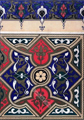 Arabian art. Manuscripts, paintings ornamentation. Ornaments. Middle ages.