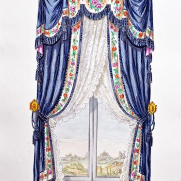 Window Decor, curtain. 18th century design