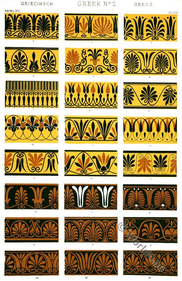 Greek Ornaments, Greek fret, Greek vases, Ancient design, Greece, Owen Jones