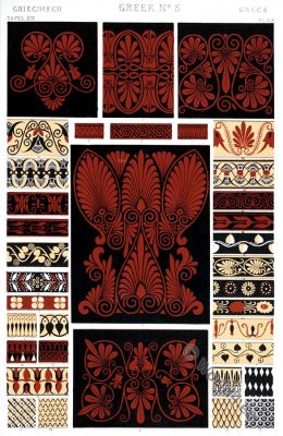 Greek Ornaments. Pure form. Ancient design, Greece, Owen Jones
