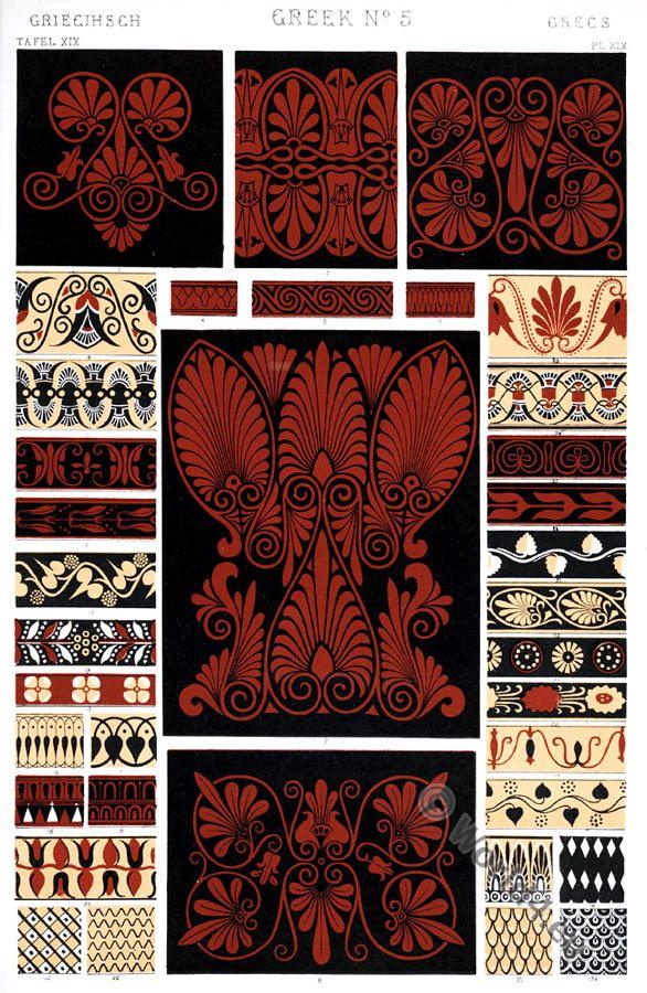 Greek Ornaments. Pure form. Ancient design, Greece, Owen Jones