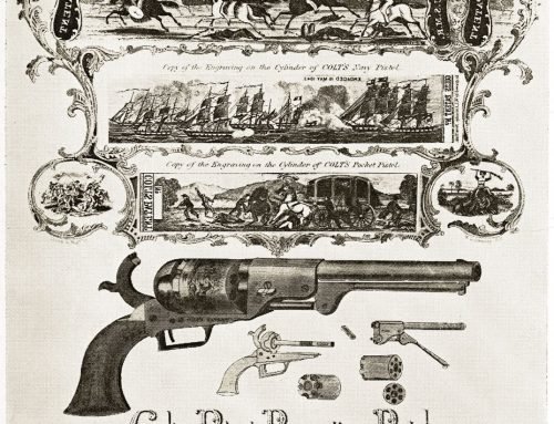 A COLT ADVERTISING SHEET OF ABOUT 1850.