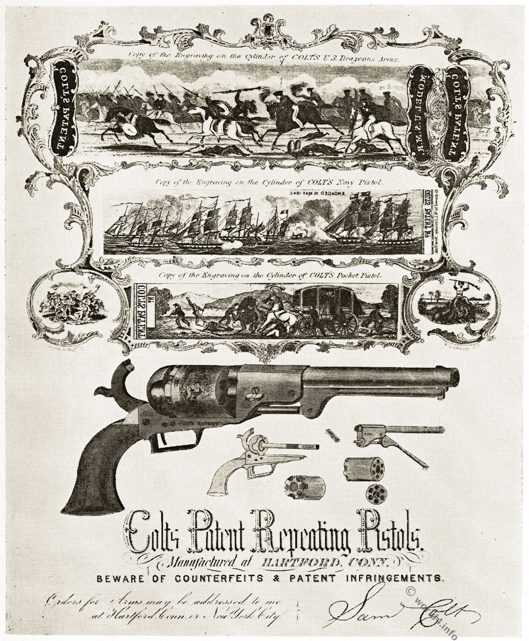 Cold, pistol, Advertising, Army, Texas Navy