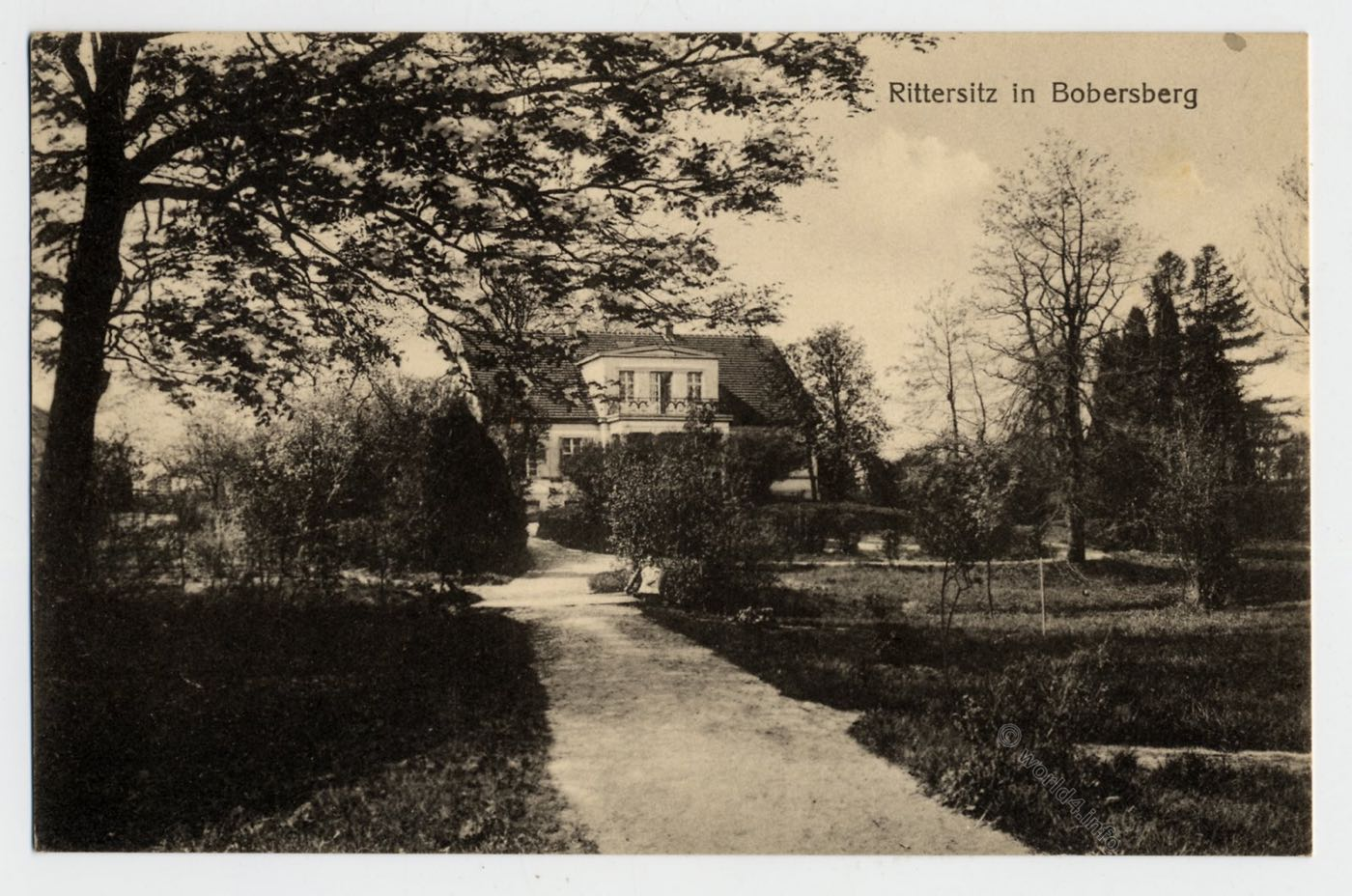 AK, Bobrowice, Polen, Rittersitz, Bobersberg, Postkarte, Lebus