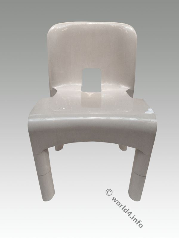 Joe Colombo, Design, designer, chair, Kartell, Druckziehverfahren, plastic chair